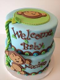 baby for baby showers monkey themed cakes for a baby shower party xyz