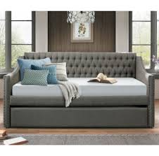 olivia gray tufted twin daybed with trundle with free selected
