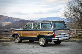 jeep grand wagoneer blue 1987 jeep grand wagoneer with tan interior