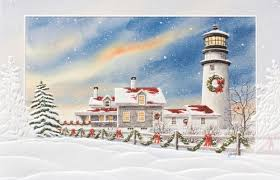 peaceful shore lighthouse 16 boxed greeting cards