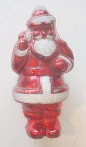 5 vintage 1940 s chenille santa ornaments w clay faces occupied