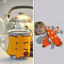 set of felt mug cup warmer animal mug cozy felt mug cozy