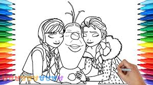 how to draw olaf u0027s frozen adventure anna elsa 2 drawing