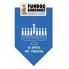 chanukah days chanukah 8 days of treats dog bandana fundogbandanas