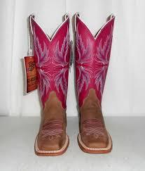 womens cowboy boots 5 b justin pink tan bent rail cowgirl new