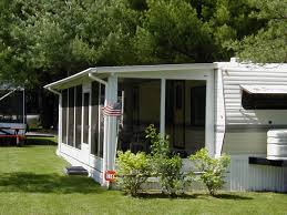 Seasonal U0026 Rv Sales Holiday Shores Deck Ideas For A Camper Our Camper Project Sunroom Decking And Rv