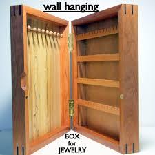 jewelry box wall mounted cabinet wall hanging wood jewelry organizer wall hung jewelry box cherry