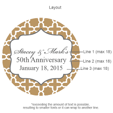 golden wedding anniversary golden wedding anniversary personalized labels 20 pcs