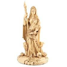 hecate greek goddess of the crossroads bone resin 11 inch statue