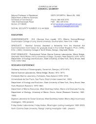 resume for adjunct professor