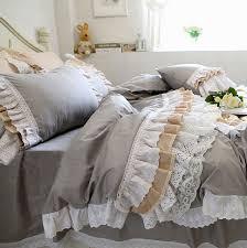 Ruffled Bed Set Luxury Lace Ruffled Bedding Sets King