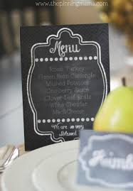 thanksgiving dinner menu template free printable chalkboard menu and place cards u0026 how to plan the