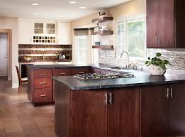 Peninsula Kitchen Cabinets Alluring U Shape Modern Kitchen With Peninsula Features Brown
