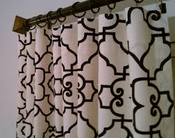 Rocket Ship Curtains by Black Cream Trellis Lattice Quatrefoil Curtains Rod Pocket
