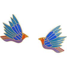laurel burch earrings vintage laurel burch celeste cloisonne enamel bird earrings sold