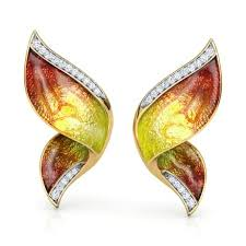 ear cuffs online pinion orange butterfly ear cuffs jewellery india online