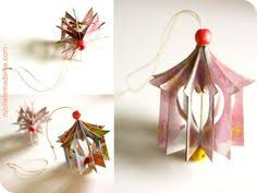 how to make a house ornament out of greeting