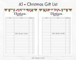 a5 christmas planner printable pack 18 modern holiday
