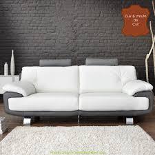 canapé 3 places blanc merveilleux canapé 3 places blanc et gris artsvette