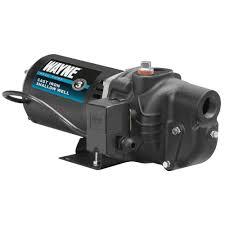 high suction lift water pump wayne 3 4 hp shallow well jet pump sws75 the home depot