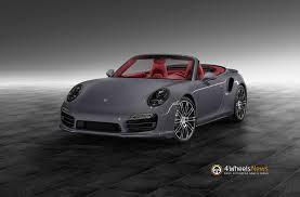 porsche cabriolet 2014 2014 porsche 911 991 turbo cabriolet in slate grey by porsche
