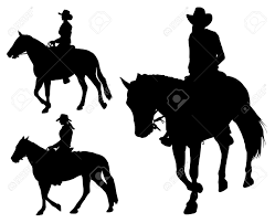 Free Silhouette Images Cowgirl Riding Horse Silhouettes Royalty Free Cliparts Vectors