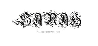 sarah name tattoo designs design tattoos and tattoo designs