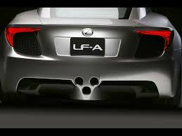 lexus lfa concept 2007 lexus lf a sports car concept rear 1024x768 wallpaper