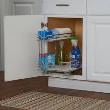 kitchen sink cabinet caddy design trends 12 in sink organizer in chrome with