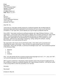 sample cover letter for software engineer experience resumes
