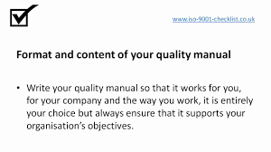 why write a quality manual youtube