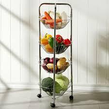 Pulley Floor L Kitchen Floor Pulley Vegetable Rack Fruit Basket Of Metal Movable