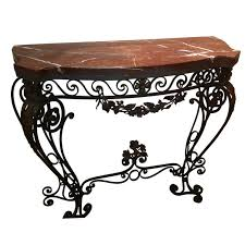 wrought iron table base for granite sofa table design wrought iron sofa table astonishing bohemian