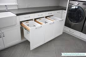 Countertop Clothes Dryer Built In Hampers Transitional Laundry Room Sunny Side Up
