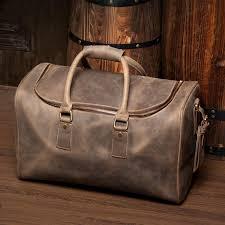 leather travel bags images Handmade leather duffle bag leather travel bag crossbody shoulder jpg