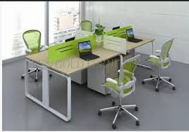 Office Desk Workstation China 4 Person Melamine Staff Desk Particle Office Table Office