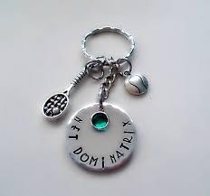 personalized birthstone keychains sted tennis key chain personalized name swarovski