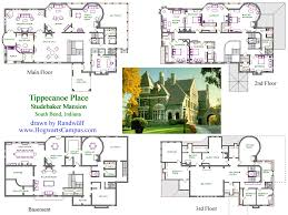 Floor Plan Mansion The Original Home Of Clement Studebaker Is The Premiere Landmark