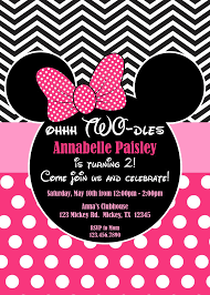 pink minnie mouse dles birthday invites pink minnie