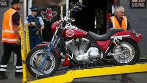 a motorbike was one of the vehicles seized in the 2016 raid