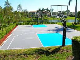 home backyard basketball court nice home zone