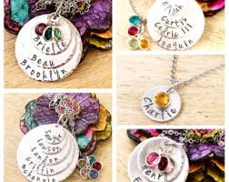 Necklaces With Children S Names Mothers Necklace Etsy