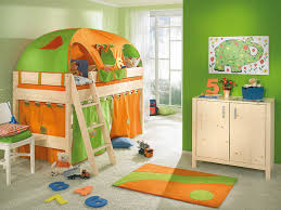 Chic Room Nuance Kids Bedroom Lovely Green And Orange Tents Decor For Kids Bed