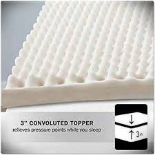 foam topper convulated pad queen size bed mattress cover egg crate