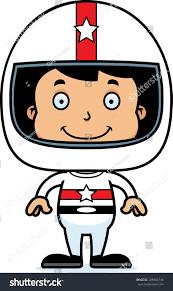 cartoon race car cartoon race car driver boy smiling stock vector 288984749