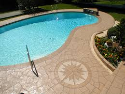 Stamped Concrete Patio Prices by Extraordinary Stamped Concrete Around Inground Pool Pictures