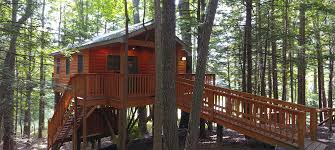 Tree House Home Wv U0027s Grand View Treehouse The Cabins At Pine Haven
