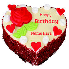 write name on brownie butter birthday cake