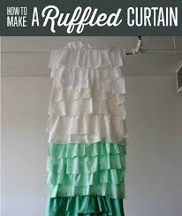 Ruffled Shower Curtain How To Make Ruffle Shower Curtains Diy Projects Craft Ideas U0026 How