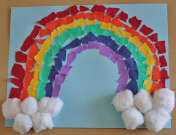 rainbow art project spring pinterest rainbow art rainbows